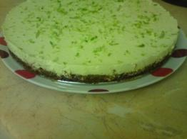 lime and chocolate cheesecake