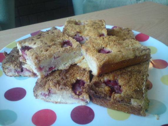 which choc and raspberry blondies